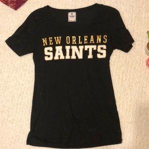 VS PINK New Orleans Saints Short Sleeved Tee